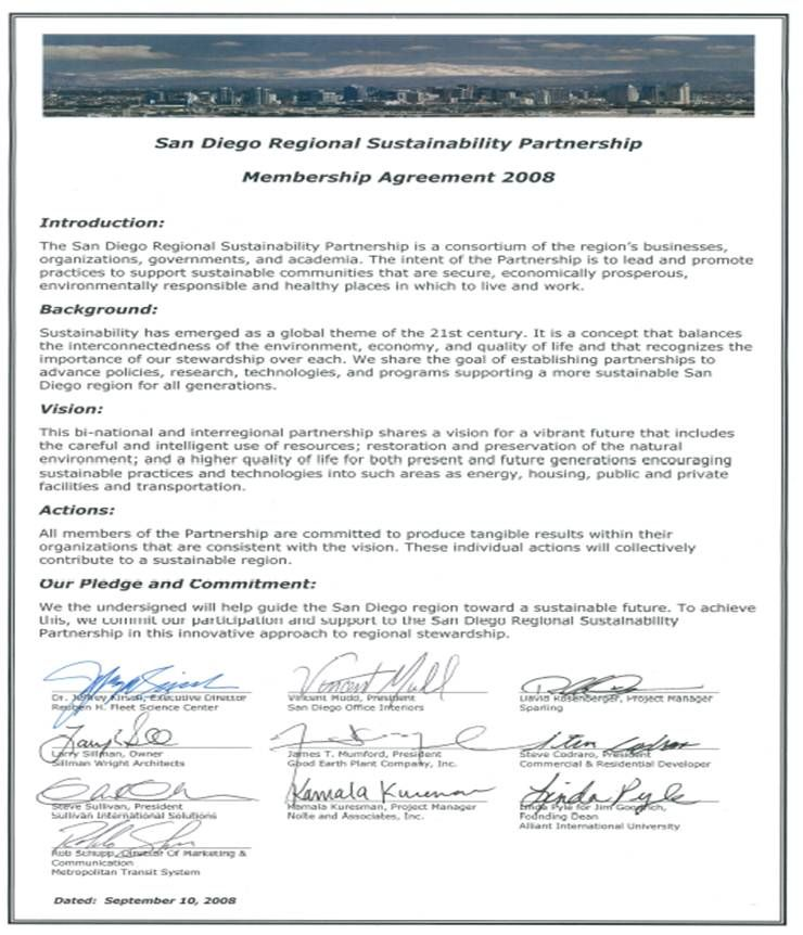 Sample Partnership Agreement Resources San Diego Regional