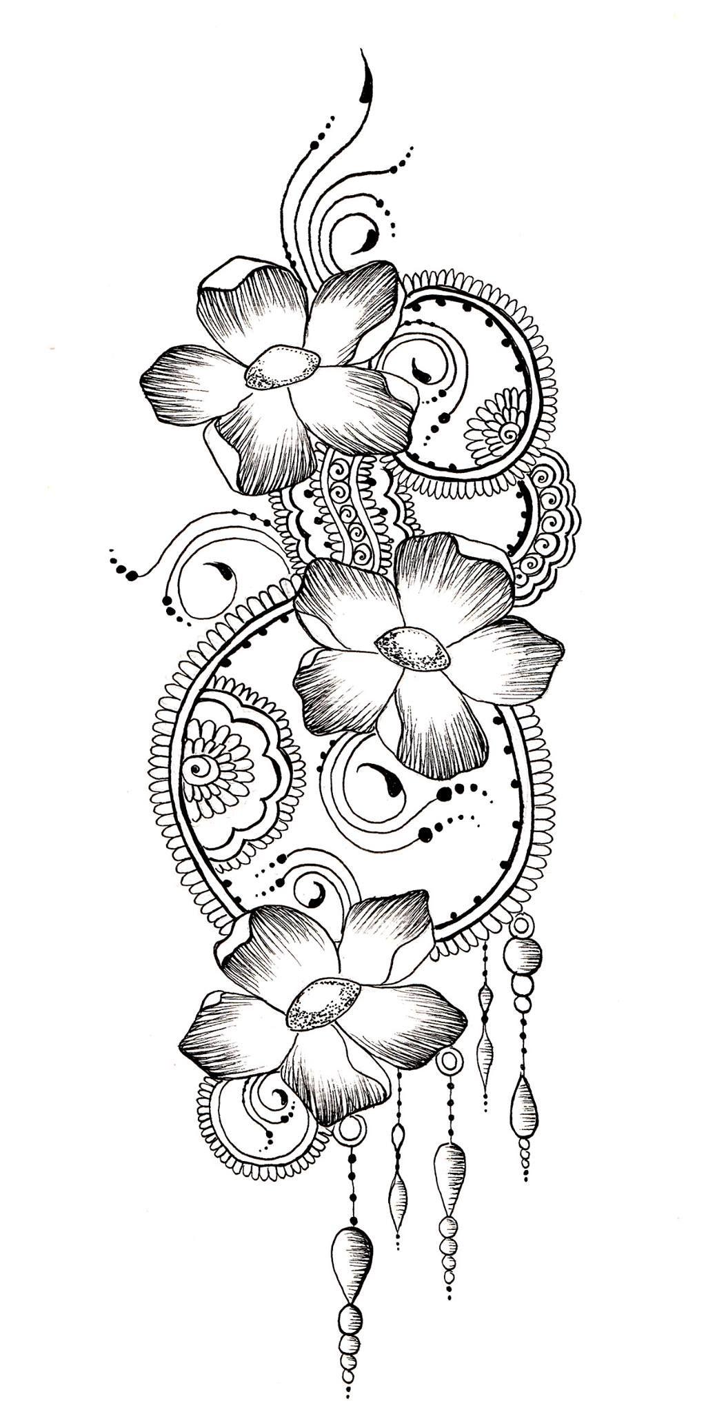Flower Henna Design Drawing Www Jamilahhennacreations Com Tatuagem Na Mao Tatuagem Tatoo