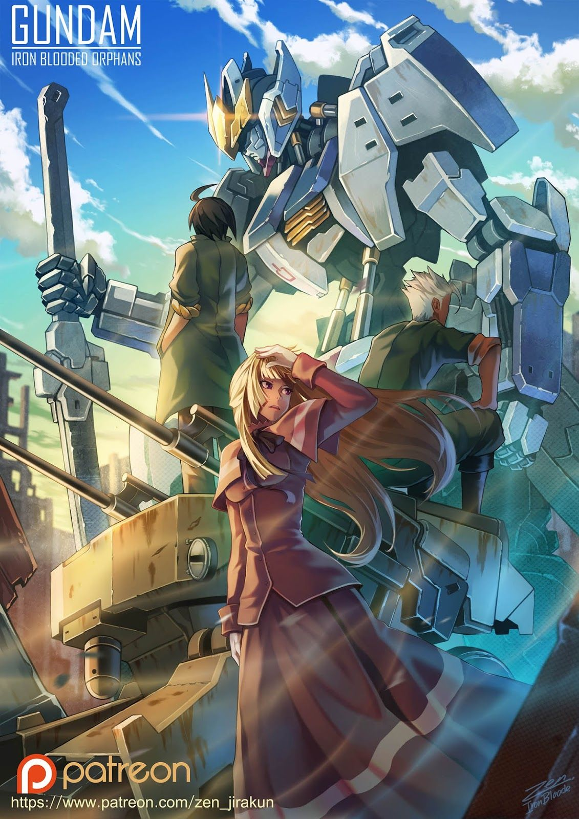Gundam Digital Artwork Gundam Iron Blooded Orphans Updated 4 9