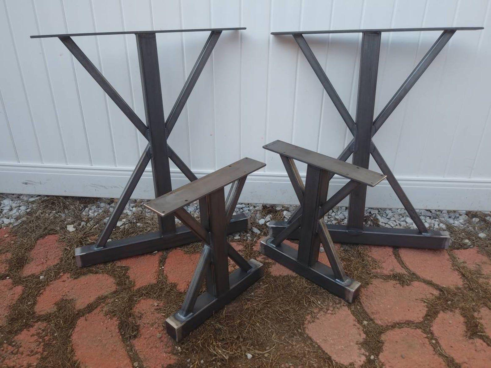 Trestle Metal Table Legs, Set of 4 in 2020 Metal table