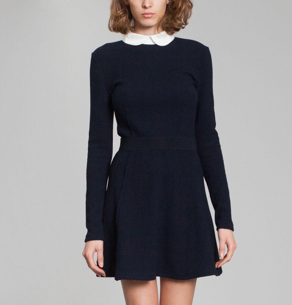 Robe bleu marine laine
