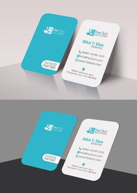 Fast Tech Round Business Card Creative Business Card Templates - Round business card template