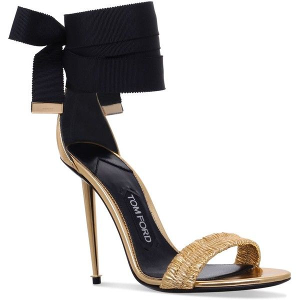 a5892edd4d8 TOM FORD Ruched Ankle Tie Sandals 100 ( 1