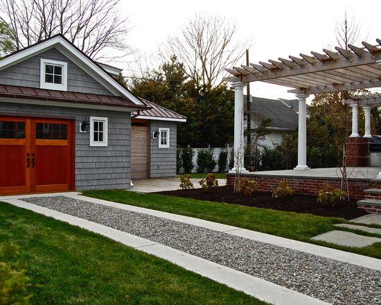 Captivating Exterior, Amazing Backyard With Detached Garage, Gravel Driveway, Shingle  Siding, Standing Seam