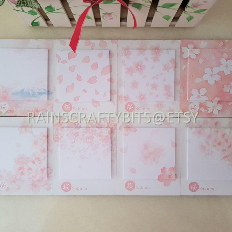 fuji washi japanese paper Mount Fuji mini Die-cut sticky note pad memo