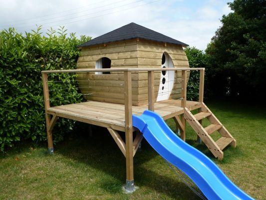 44 cabane enfant le r cit de la construction besne for Construire une cabane pour enfant