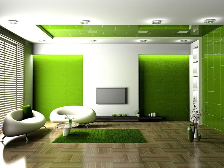 Bring Nature To Your Living Room By Painting It Green
