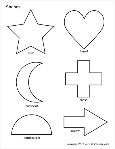 Basic Shapes Free Printable Templates Coloring Pages Firstpalette Com Shape Coloring Pages Printable Shapes Coloring Pages