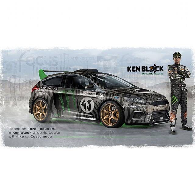 Ken Block With Possibly Future Ford Focus Rs Hoonigan Ford Focus Ford Focus Rs Ken Block