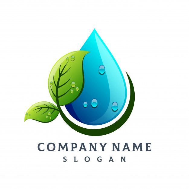 Leaf Water Drop Logo Premium Vector Free Vector Freepik Vector Freelogo Freebusiness Freetree Freeabstract Water Drop Logo Drop Logo Text Logo Design