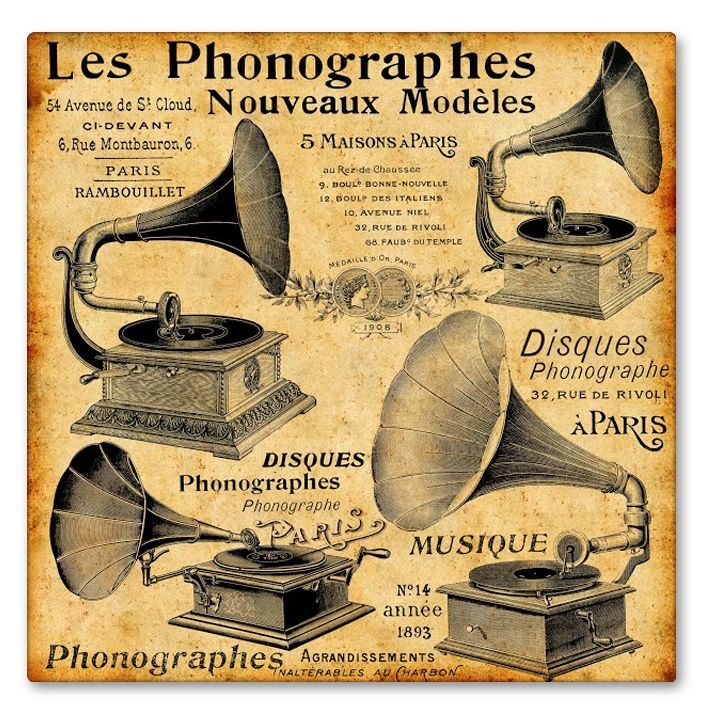 Canvas print PHONOGRAPHES by Sticky!!!