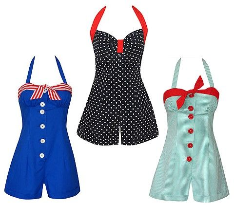 Dolly Dagger sunsuits - very retro.