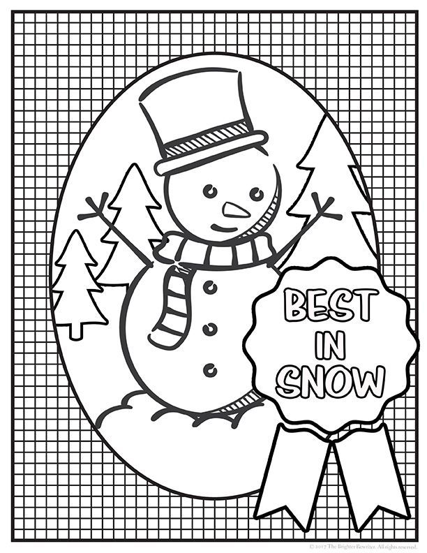 Christmas and Winter Coloring Pages Color sheets, Students and - best of coloring pages fall and winter