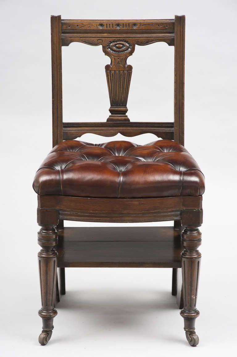 victorian mahogany metamorphic chair and library steps, circa 1870