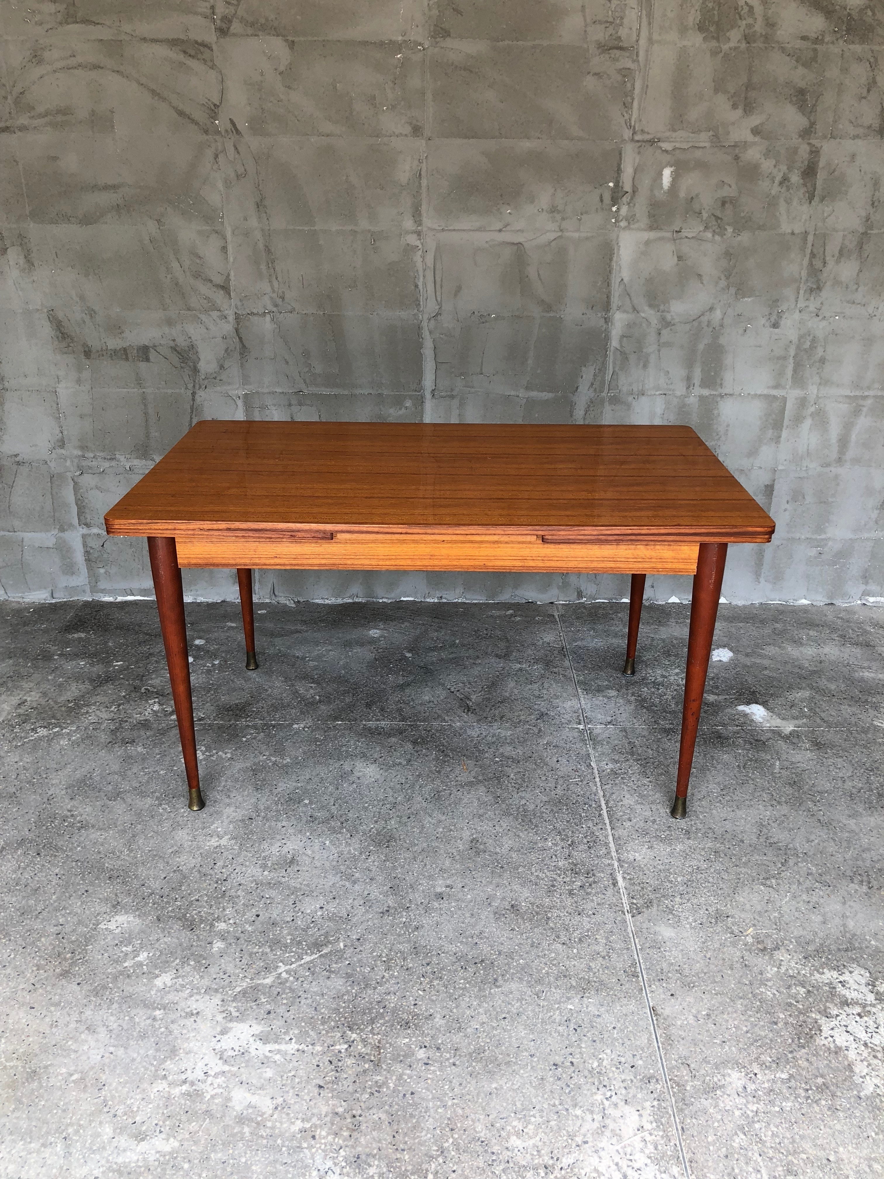 French Extendable Mahogany Dining Table 1950s Dining Table