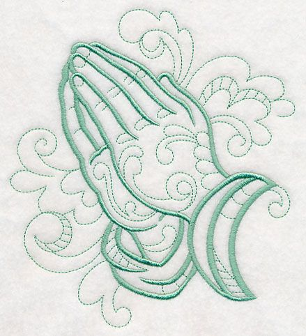 9209f8a112a77 Doodle Praying Hands design (M4386) from www.Emblibrary.com ...