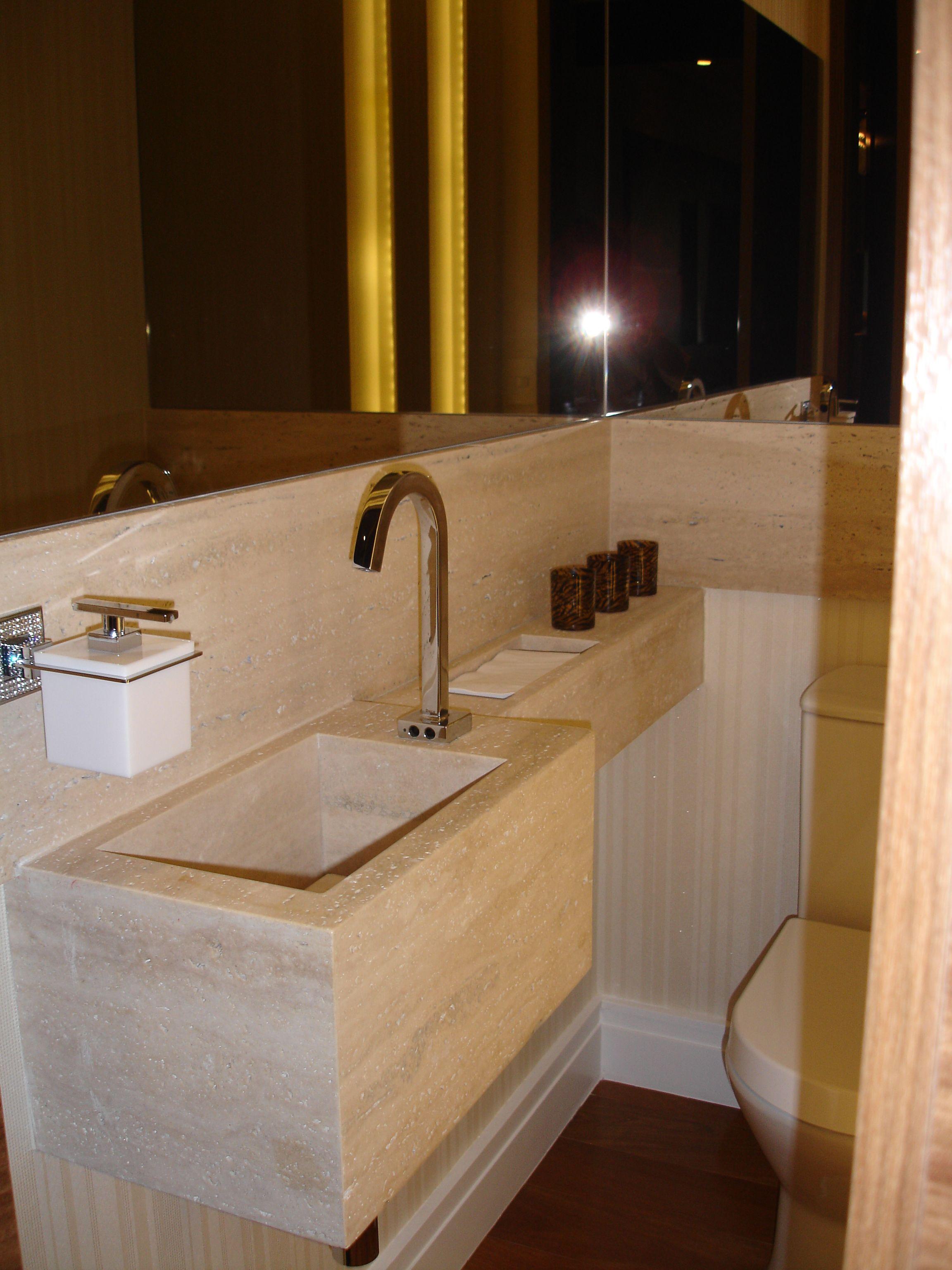 Lavabo com cuba esculpida  Banheiros  Pinterest  Decoration -> Cuba Para Banheiro Pequeno