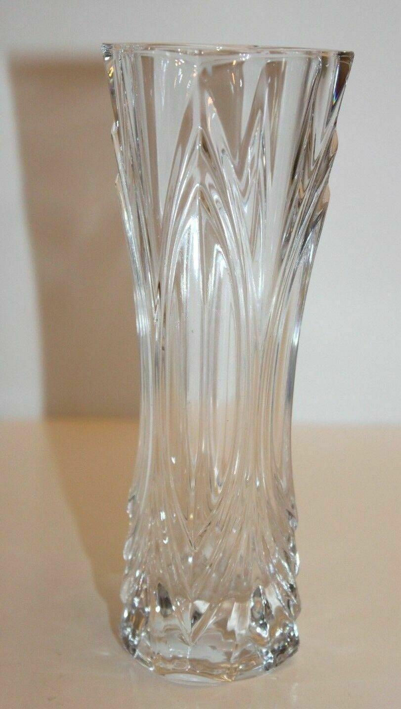 Vintage Glass Flower Slender Crystal Vase Flower Arrangement 7