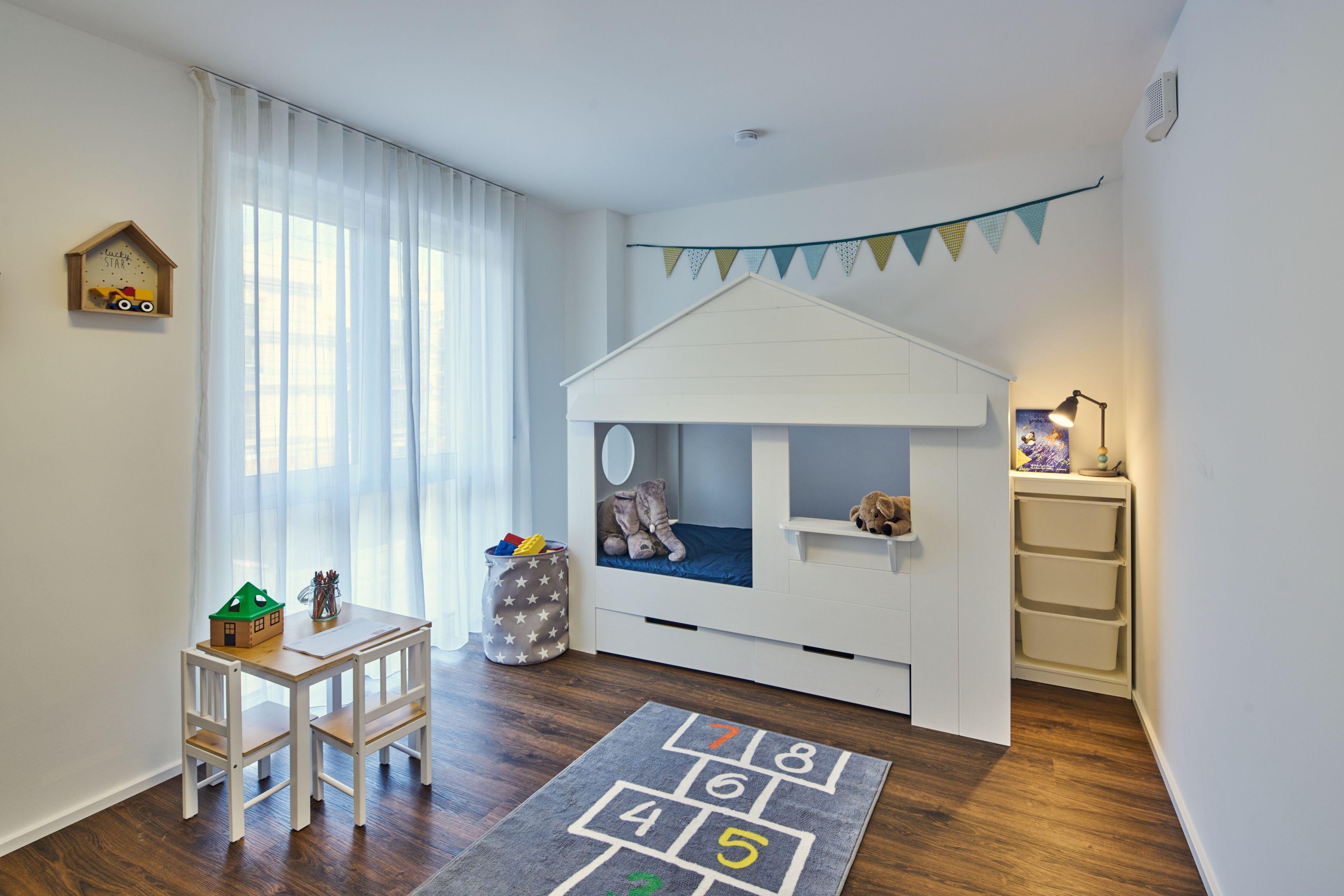 Kinderzimmer Kleinkinderbett Favorit Massivhaus Massivhaus