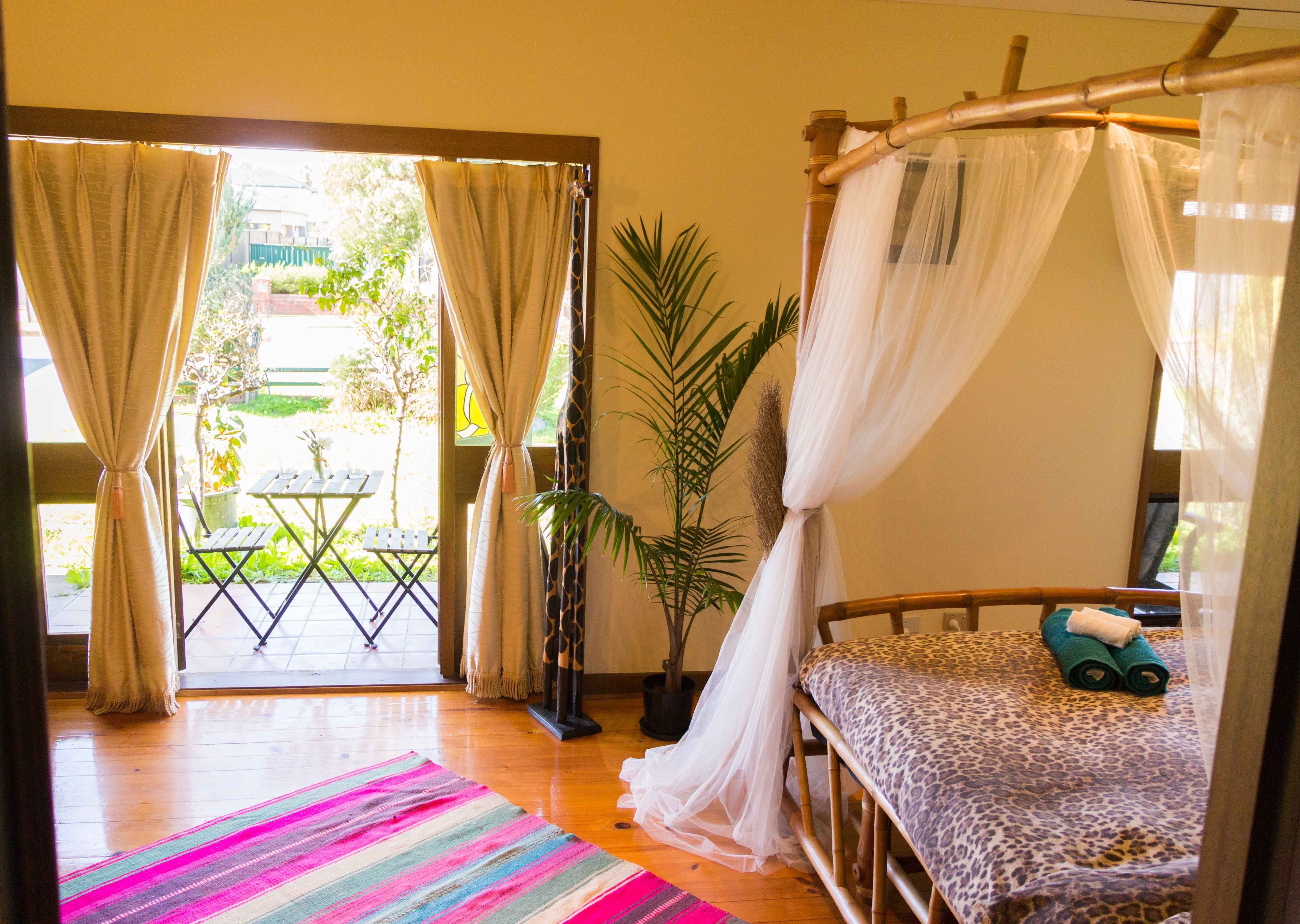 canopy bed african themed room boho inspiration bamboo four
