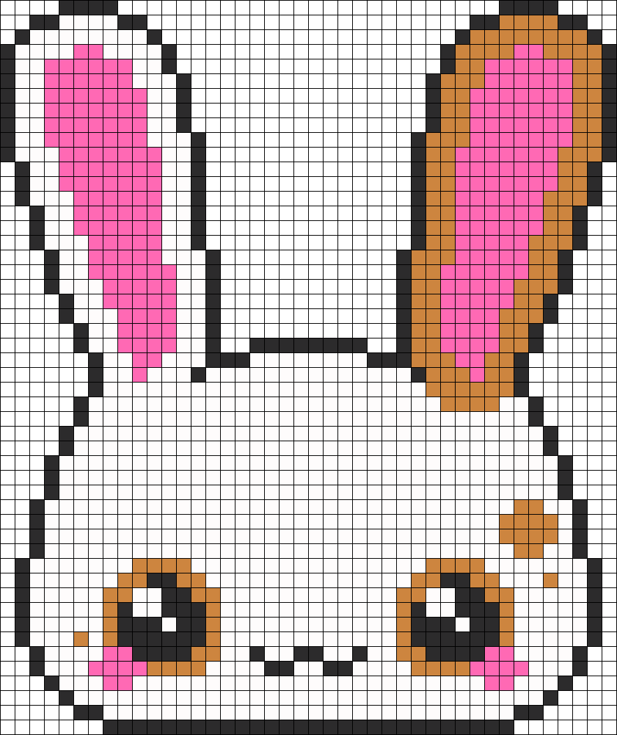 Kawaii Bunny Perler Bead Pattern Bead Sprite Diy And