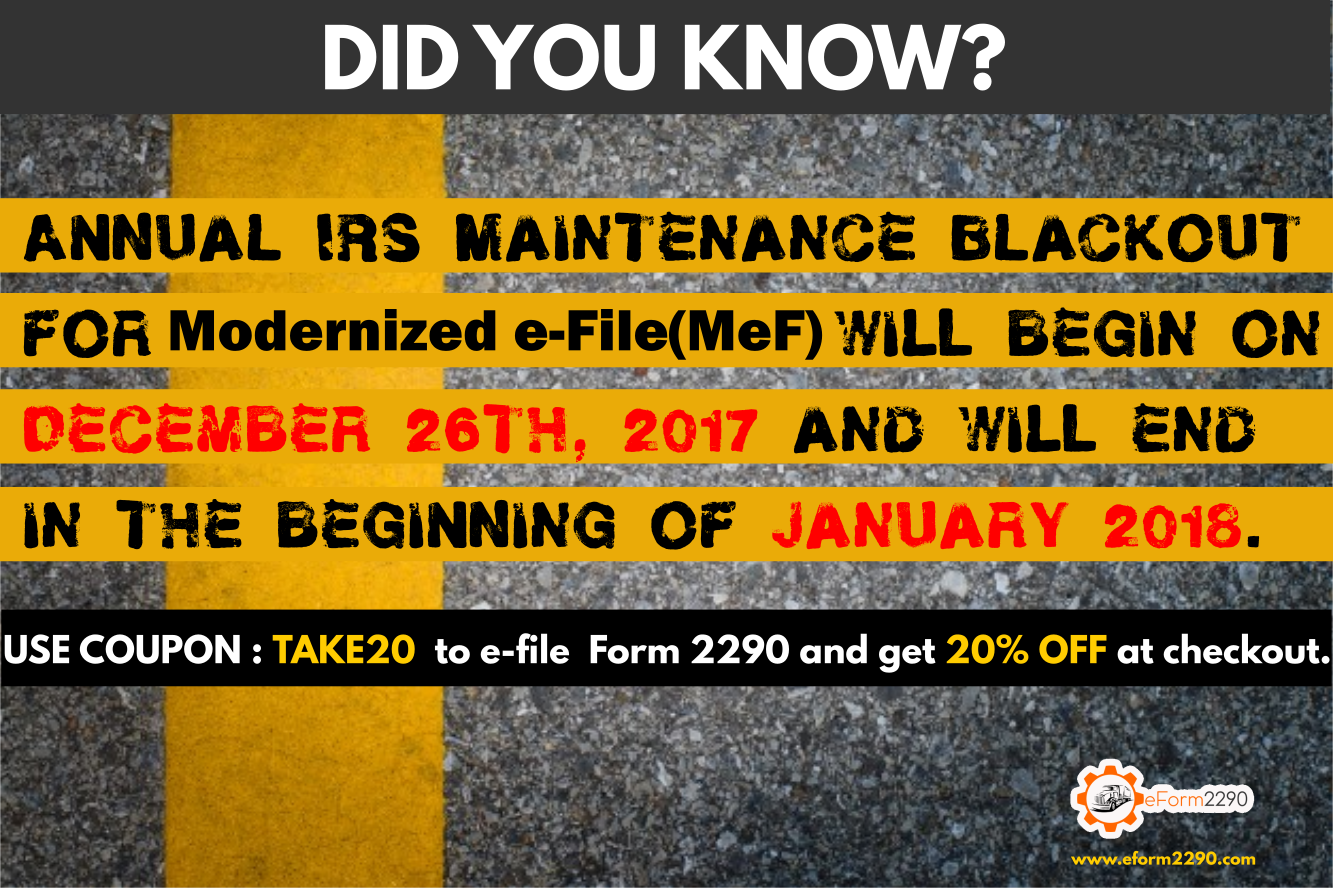 Get 20 off on irs form 2290 filing use coupon truck20mef irs get 20 off on irs form 2290 filing use coupon truck20 falaconquin