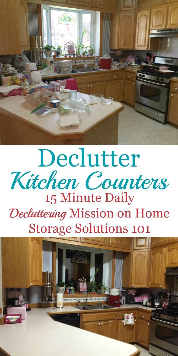 How to #declutter your kitchen counters, and then develop the habits ...