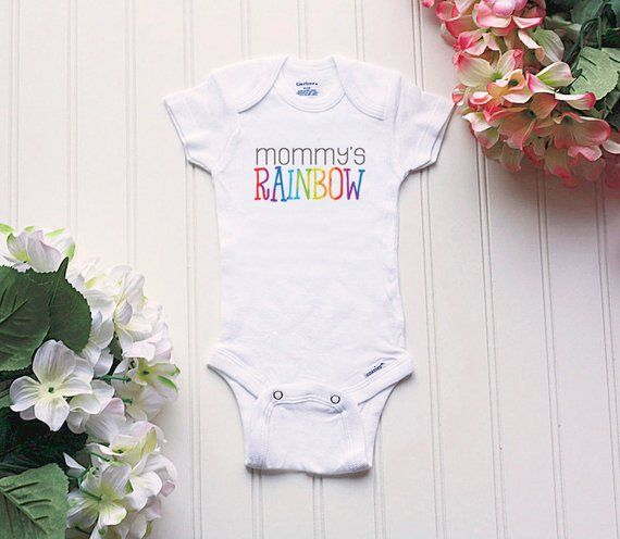 d54bfaac7 Rainbow baby Onesie® - baby clothes, after the storm Onesie®, IVF Onesie®,  take home outfit, new bab