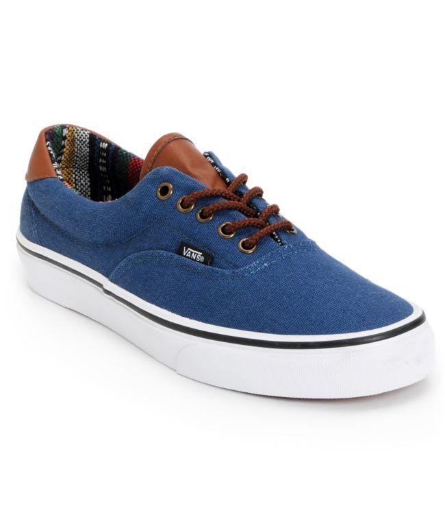 84e45e0429 Vans Era 59 Navy   Guate Canvas Skate Shoes