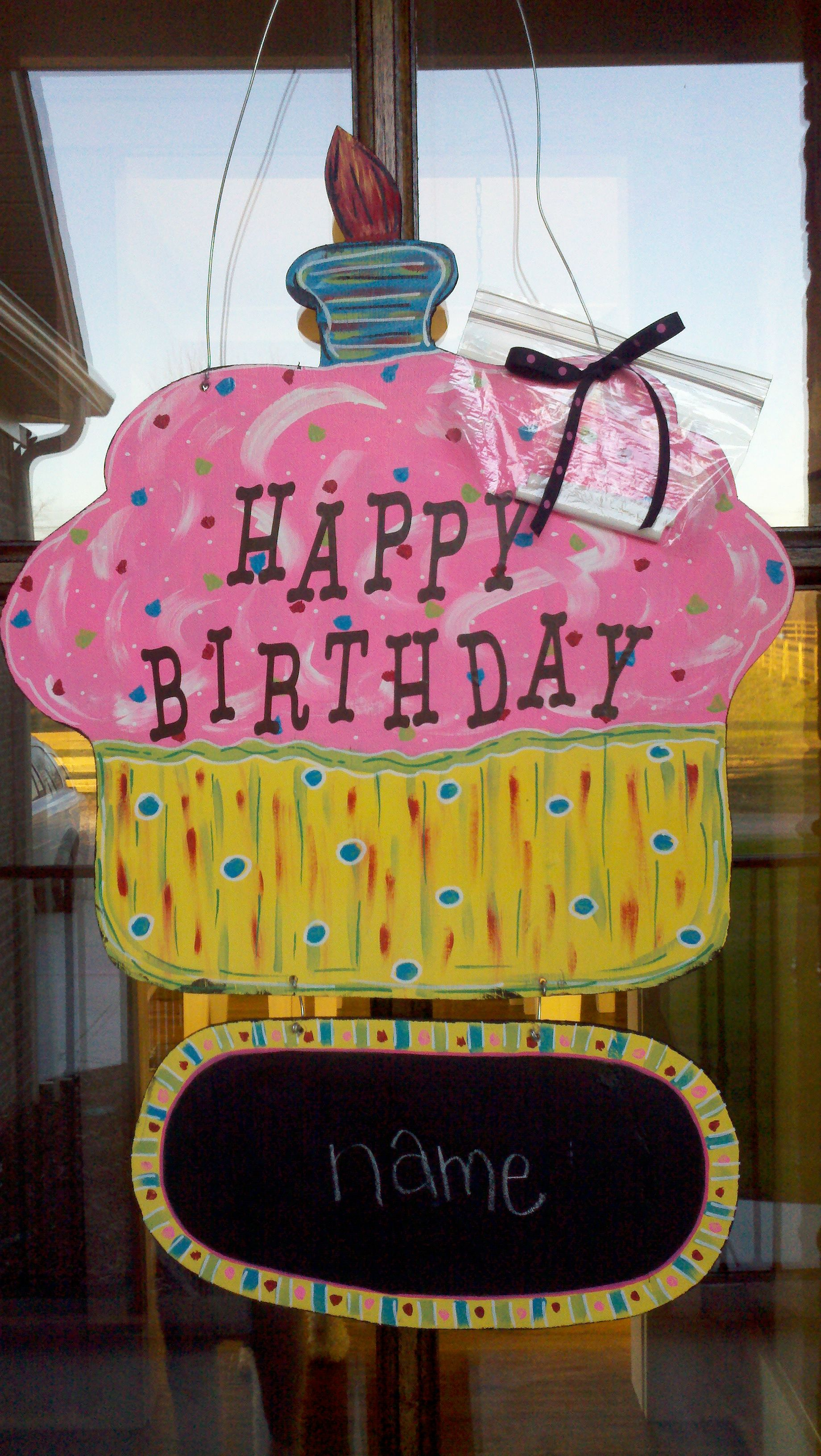 Happy Birthday Door Greeter, chalk board for birthday name..