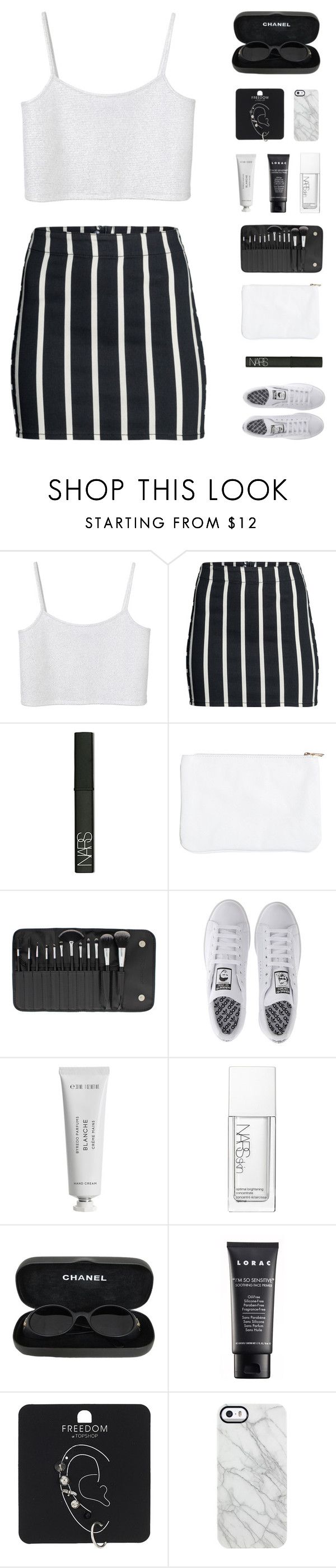 """""""Make the most of every day"""" by virgo-queen ❤ liked on Polyvore featuring Monki, H&M, NARS Cosmetics, BHCosmetics, adidas, Byredo, Chanel, LORAC, Topshop and Uncommon"""