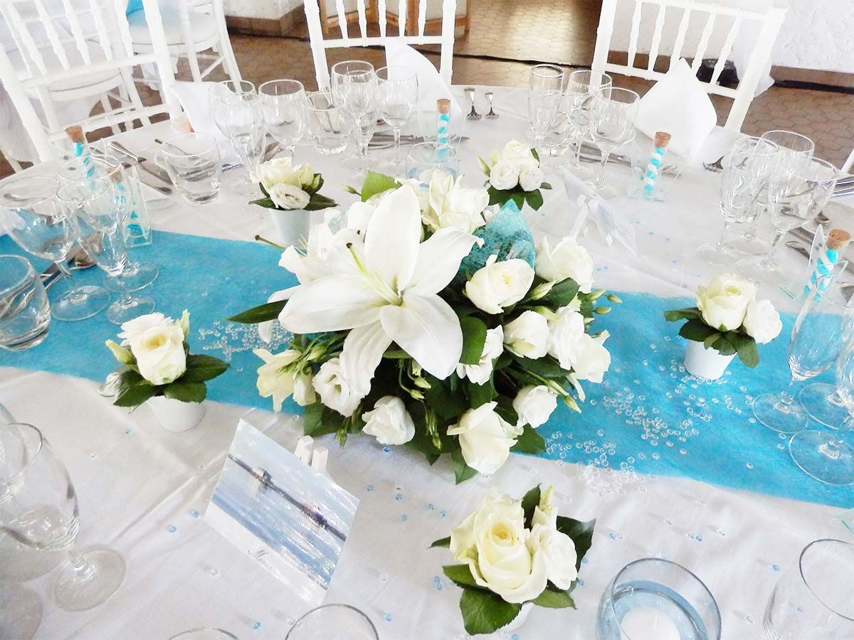 mariage turquoise et blanc deco mariage pinterest. Black Bedroom Furniture Sets. Home Design Ideas