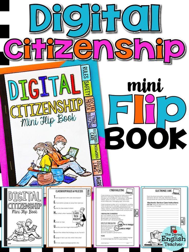 Digital Citizenship Mini Flip Book Middle School