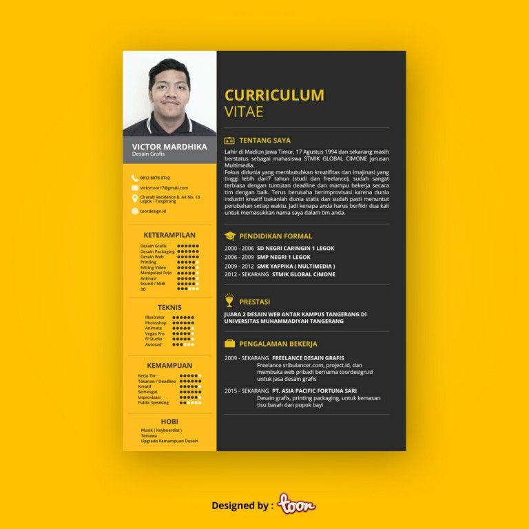 Contoh Cv Yang Menarik Hrd Desain Cv Cv Kreatif Desain
