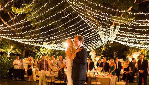 Wedding String Lights Wrap To Set The Mood