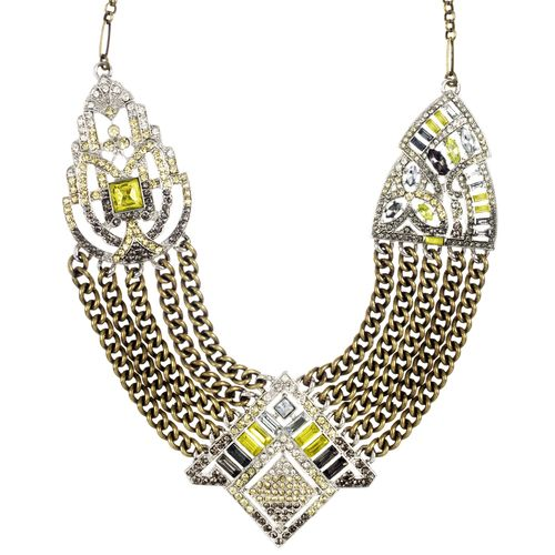 Art Deco Chain Swag Statement Necklace 30% off! A low price of $96.00 starting Thursday at 5:00 PM going through Sunday at 8:50 PM PST