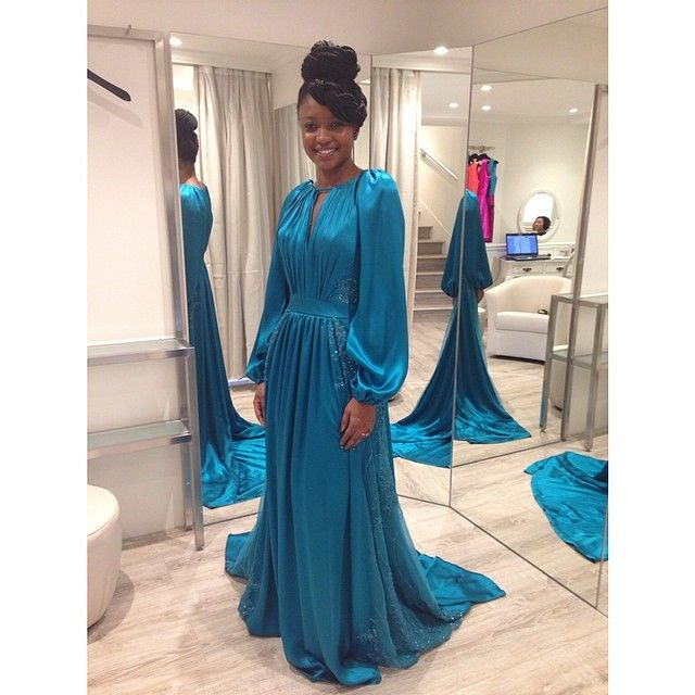 I Feel like a QUEEN! #jade #dress By @Marjolaine Chen - Créatrice de robes de mariée / robes de soirée sur mesure #chezmarjolainechen #fashion