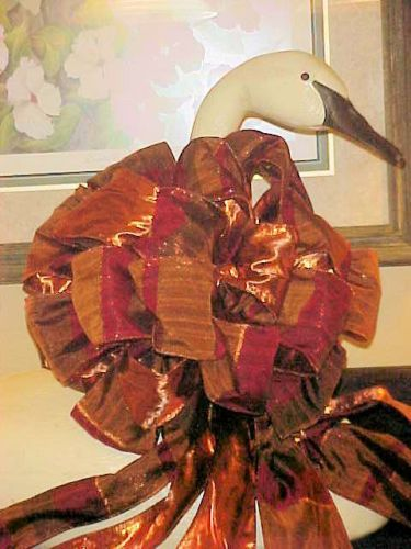 Christmas-Tree-Topper-Copper-Plaid-Two-Sided-Bow-4-wide-6-Tails