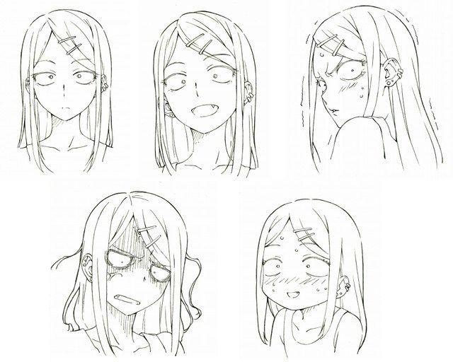 Anime Character Design Sketch : Dagashi kashi anime character design saya endou