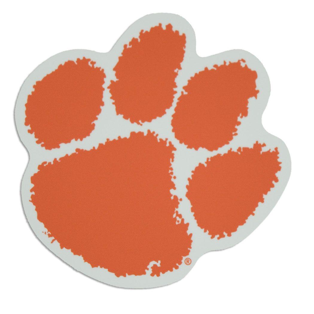 Clemson Tigers Paw Logo Auto Vinyl Decal 3