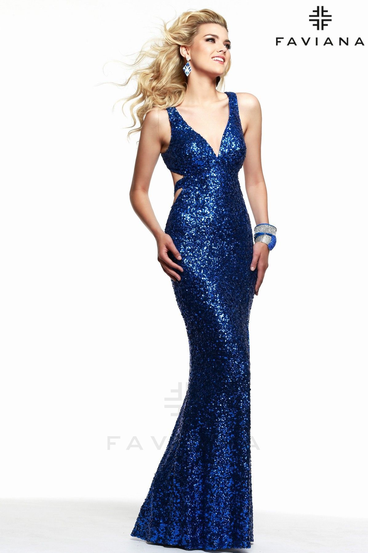 7313 Royal Cut-Outs Pageant Dresses