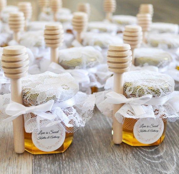 25 Honey Jar Favors 2 oz. – Wedding Favors – Party Favors