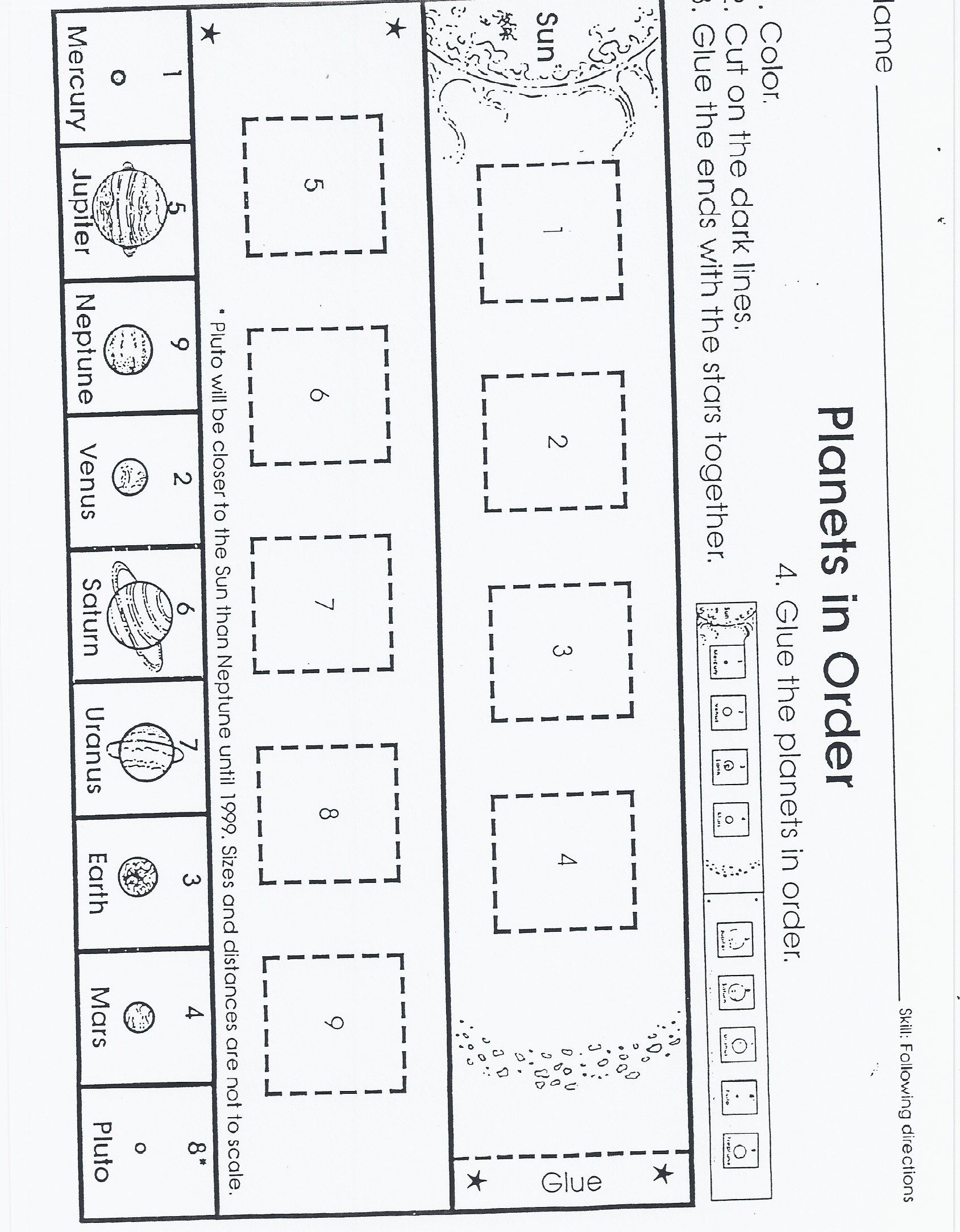 planets worksheet (page 4 of the packet) | Schule | Pinterest ...