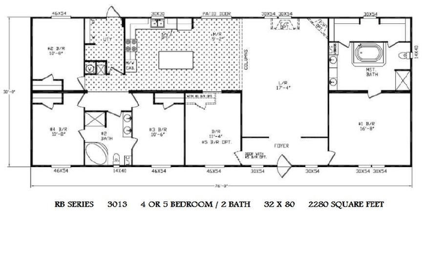 Fleetwood mobile home floor plans and prices double wide Double wide floor plans with basement