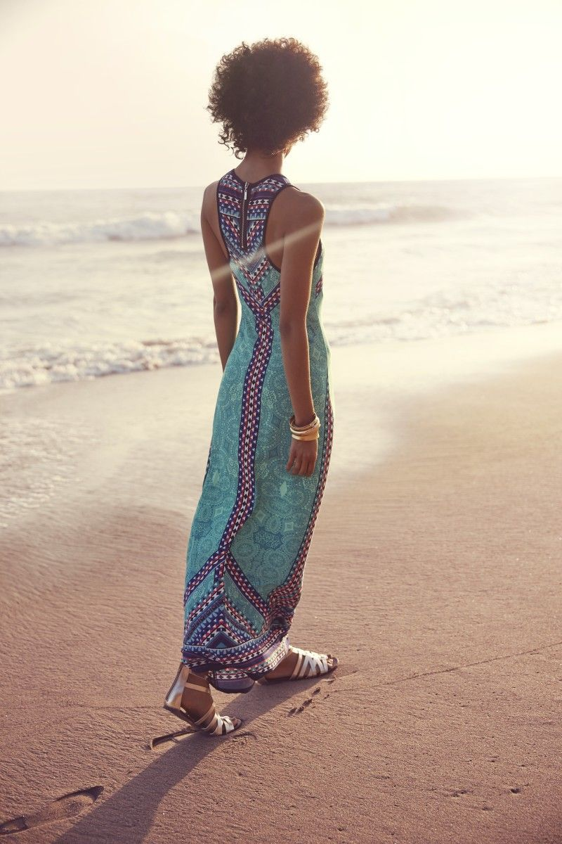 The perfect maxi dress to add interest and intrigue to your easy, everyday  style.