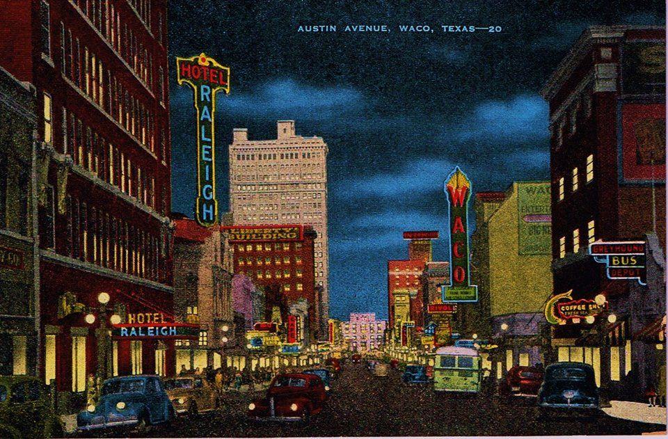 Downtown Austin Ave Waco Tx 1940 S Downtown Austin Downtown
