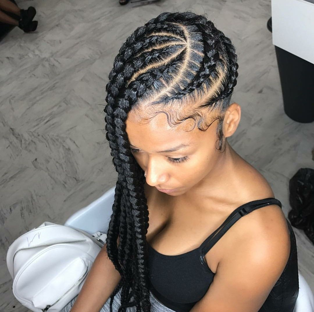 Cornrows Protective Cornrow Braided Hairstyle | makes me wanna look ...