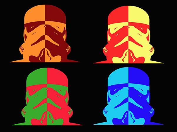4 storm troopers star wars pop art canvas print http www bluehorizonprints