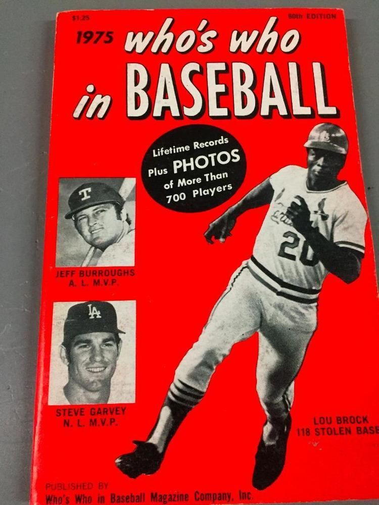 1975 Whos Who In Baseball Sports Book Lou Brock Steve Garvey Jeff Burroughs Sports Books Sports Magazine Steve Garvey