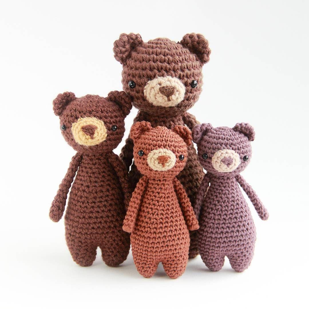 Amigurumi Patterns Teddy Bear : Family bear s children mini crochet pattern by